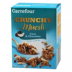 Cereales con coco y chocolate Muesli Carrefour 750 g.