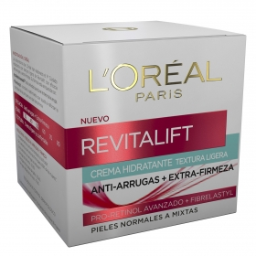 Crema hidratante anti-arrugas Revitalift para piel normal a mixta L'Oréal 50 ml.