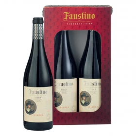 Lote 72:Estuche de vino D.O.Ca. Rioja tinto crianza