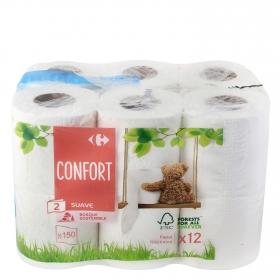 Papel higiénico confort suave