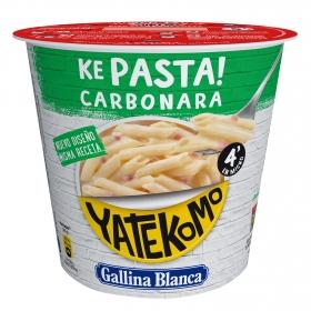 Macarrones a la carbonara Yatekomo Gallina Blanca 101 g.