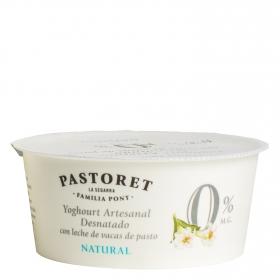 Yogur desnatado natural Pastoret 125 g.
