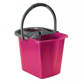 Cubo  de fregar de Plástico Carrefour  14 Litros - Rosa