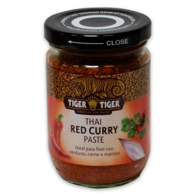 Salsa curry rojo Thai Tiger tarro 225 g.
