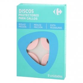 Discos protectores para callos Carrefour 9 ud.
