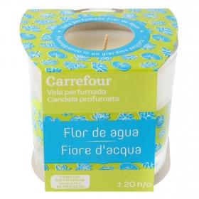 Vela perfumada flor de agua