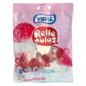 Caramelos de goma rellenos de fresa