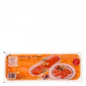 Lomo de salmón ahumado precortado Ahumados Domínguez 250 g.