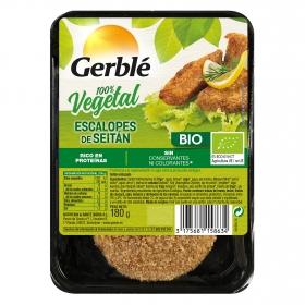 Seitan rebozado en filetes ecológico Gerblé Bio 180 g.