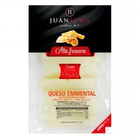 Queso emmental en lonchas extra finas Juan Luna 120 g.