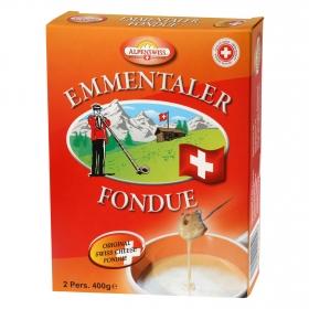 Fondue de queso suizo Alpenswiss 400 g.