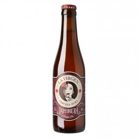 Cerveza artesana La Virgen Jamonera Amber Ale botella 33 cl.