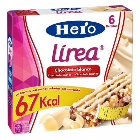 Barritas de cereales con chocolate blanco Hero 6 unidades de 20 g.