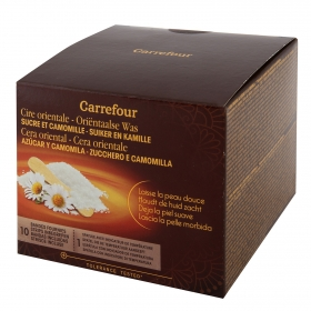 Cera tibia con camomila Carrefour 250 ml.