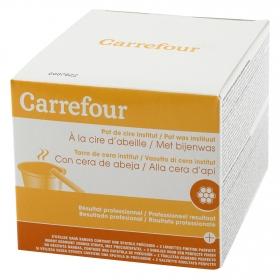 Cera institut con cera de abeja Carrefour 400 ml.
