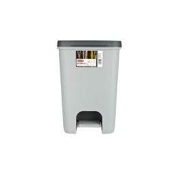 Cubo  de basura de Plástico  Essentials 20 Litros  Gris