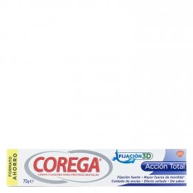 Crema fijadora para prótesis dentales acción total