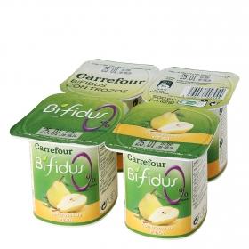 Yogur bifidus 0% con trozos de pera