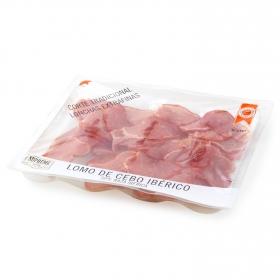 Lomo ibérico de cebo lonchas extrafinas Ibéricos de Antaño envase 90 g
