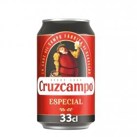 Cerveza Cruzcampo especial lata 33 cl.