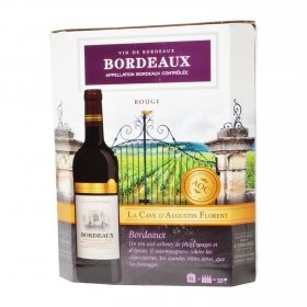 Bag in box de vino tinto francés Bordeaux 3 l.
