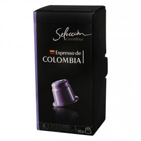 Café espresso de Colombia en cápsulas compatible con Nespresso