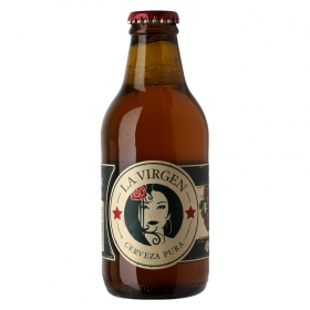 Cerveza artesana La Virgen 360 rubia botella 25 cl.
