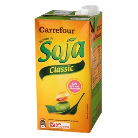Bebida de soja Carrefour sin azúcares brik 1 l.