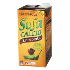 Bebida de soja Carrefour con chocolate brik 1 l.