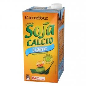 Bebida de soja Carrefour ligera con calcio brik 1 l.