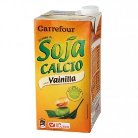 Bebida de soja Carrefour sabor vainilla con calcio brik 1 l.