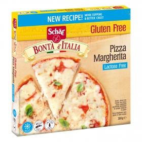 Pizza margarita Schär sin gluten y sin lactosa 300 g.