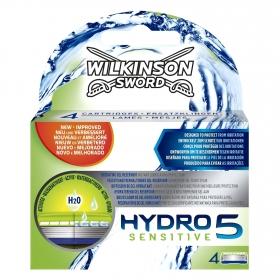 Recambio para maquinilla de afeitar Hydro 5 Sensitive Wilkinson 4 ud.