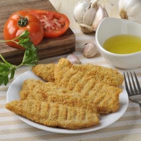 Solomillo de pollo empanado