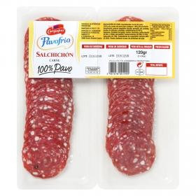 Salchichón de pavo 100% loncheado Campofrío bipack 2 envases 60 g