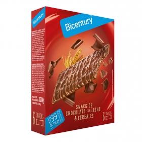 Barritas de chocolate con leche Bicentury 120 g.