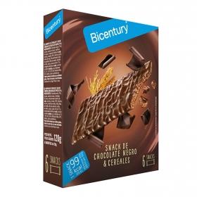 Barritas de chocolate negro Bicentury 120 g.