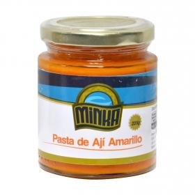 Salsa para pasta de ají amarillo Minka tarro 225 g.