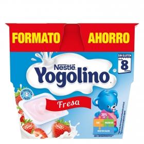 Postre de fresa Nestlé Iogolino pack de 8 unidades de 100 g.