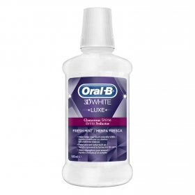 Colutorio 3D White Luxe Brillo Seductor Menta Fresca Oral-B 500 ml.