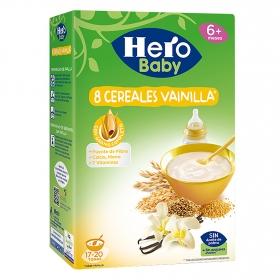 Papilla de 8 cereales con vainilla Hero Baby 500 g.