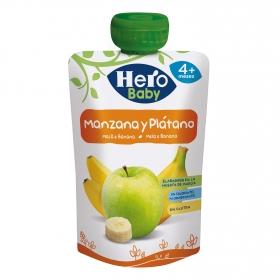 Preparado de manzana y plátano desde 4 meses Hero Baby sin gluten bolsita de 100 g.