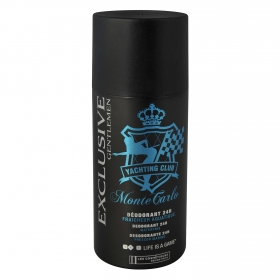 Desodorante en spray 24h Yachting Club Montecarlo Les Cosmétiques -Exclusive Gentlemen 150 ml.