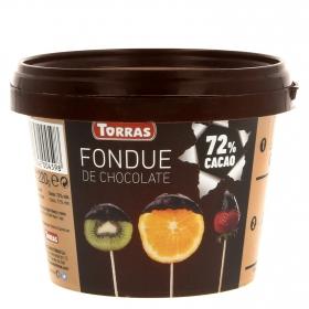 Fondue de chocolate 72 % cacao