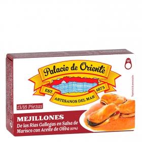 Mejillones en salsa de marisco con aceite de oliva