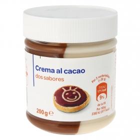 Crema de cacao dos sabores