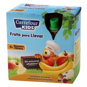 Compota fruta sabor manzana y plátano
