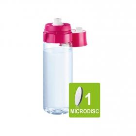 Pack Botella de Plástico  fill&go 0,6 L. con 1 Filtro Rosa