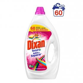 Detergente líquido adiós al separar Dixan 60 lavados.