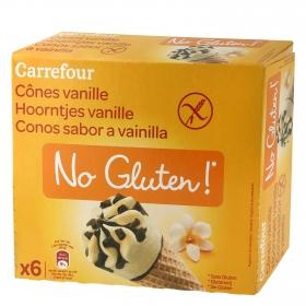 Conos sabor vainilla sin gluten